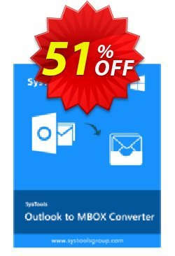Outlook to MBOX - Personal License Coupon, discount SysTools coupon 36906. Promotion: