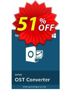 SysTools OST Converter Coupon, discount SysTools Pre Monsoon Offer. Promotion: Big discount code of SysTools OST Converter 2020