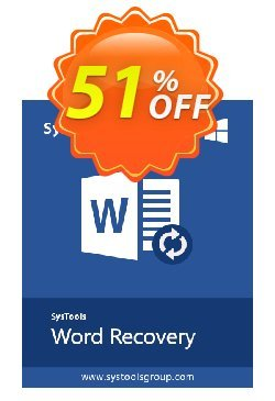 Word Repair - Personal License Coupon, discount SysTools coupon 36906. Promotion: