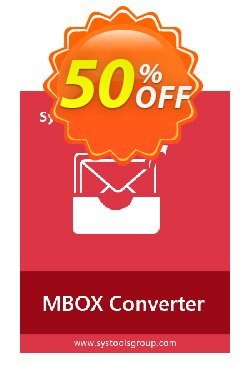 MBOX Converter - Business License Coupon, discount SysTools coupon 36906. Promotion: