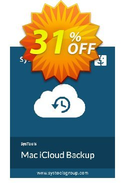 SysTools Mac iCloud Backup Coupon discount SysTools Spring Offer. Promotion: Formidable offer code of SysTools Mac iCloud Backup 2020