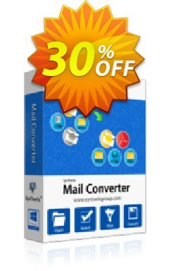 SysTools Mail Converter Full License Coupon discount SysTools coupon 36906. Promotion: