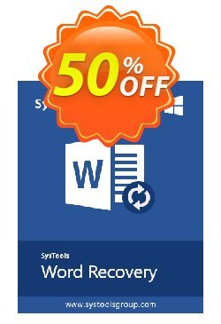 Word Repair - Business License Coupon, discount SysTools coupon 36906. Promotion: