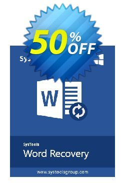 Word Repair - Enterprise License Coupon, discount SysTools coupon 36906. Promotion: