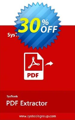 SysTools PDF Extractor for MAC - Enterprise License  Coupon, discount 30% OFF SysTools PDF Extractor for MAC (Enterprise License), verified. Promotion: Awful sales code of SysTools PDF Extractor for MAC (Enterprise License), tested & approved