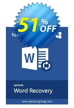 SysTools DOCX Repair Coupon, discount SysTools Summer Sale. Promotion: