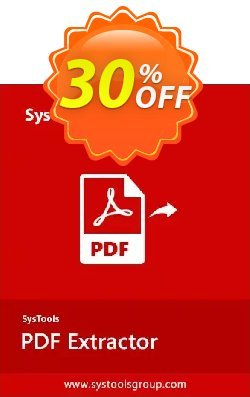 SysTools PDF Extractor - Enterprise License  Coupon, discount SysTools Spring Offer. Promotion: Stirring discounts code of SysTools PDF Extractor 2020
