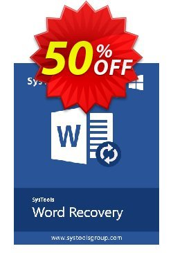 DOCX Repair - Enterprise License Coupon, discount SysTools coupon 36906. Promotion: