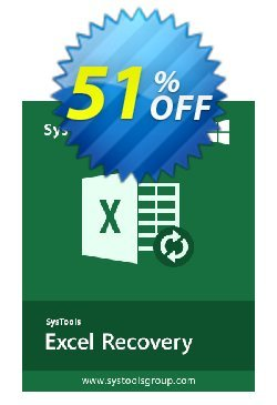 Excel Recovery - Personal License Coupon, discount SysTools coupon 36906. Promotion:
