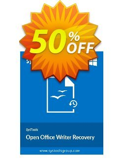 SysTools OpenOffice Writer Recovery - Business  Coupon discount SysTools coupon 36906 -