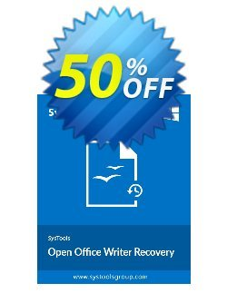 Open Office Writer Recovery - Business License Coupon, discount SysTools coupon 36906. Promotion: