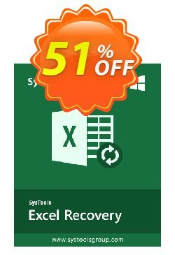 XLSX Recovery - Personal License Coupon, discount SysTools coupon 36906. Promotion: