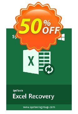 SysTools XLSX Recovery - Business  Coupon discount SysTools coupon 36906. Promotion: