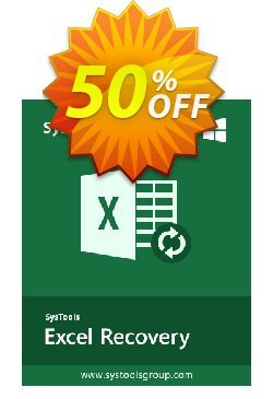 XLSX Recovery - Enterprise License Coupon, discount SysTools coupon 36906. Promotion: