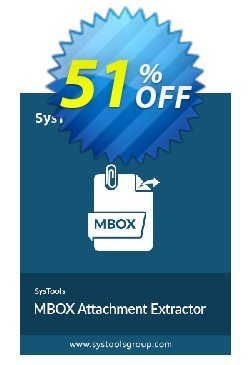 SysTools MBOX Attachment Extractor Coupon discount 50% OFF SysTools MBOX Attachment Extractor, verified. Promotion: Awful sales code of SysTools MBOX Attachment Extractor, tested & approved