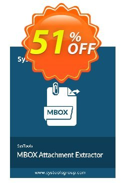 SysTools Mac MBOX Attachment Extractor Coupon discount 50% OFF SysTools Mac MBOX Attachment Extractor, verified - Awful sales code of SysTools Mac MBOX Attachment Extractor, tested & approved