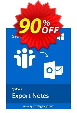 Export Notes - Enterprise License Coupon, discount SysTools coupon 36906. Promotion: