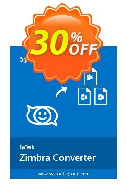SysTools Zimbra Converter Coupon, discount 30% OFF SysTools Zimbra Converter, verified. Promotion: Awful sales code of SysTools Zimbra Converter, tested & approved