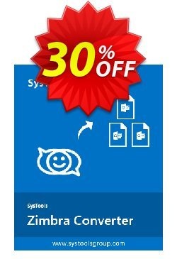 SysTools Zimbra Converter - Enterprise License  Coupon, discount 30% OFF SysTools Zimbra Converter (Enterprise License), verified. Promotion: Awful sales code of SysTools Zimbra Converter (Enterprise License), tested & approved
