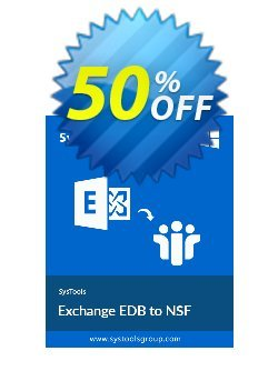 SysTools Exchange EDB to NSF Converter Coupon discount SysTools Summer Sale -