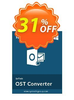 Outlook OST to PDF Converter - Personal License Coupon, discount SysTools coupon 36906. Promotion: