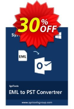 EML to PST Converter - Personal License Coupon, discount SysTools coupon 36906. Promotion: