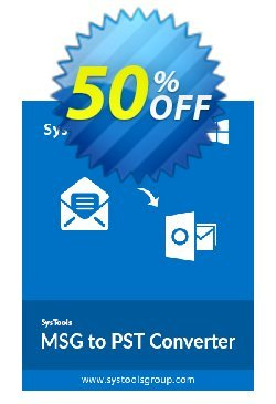 SysTools MSG to PST Converter - Business  Coupon discount SysTools coupon 36906. Promotion: