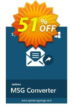 SysTools MSG to EML Converter Coupon discount SysTools Summer Sale -