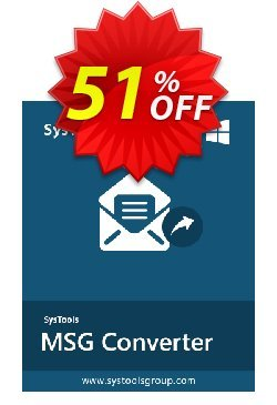 MSG to EML Converter - Personal License Coupon, discount SysTools coupon 36906. Promotion: