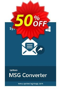 MSG to EML Converter - Business License Coupon, discount SysTools coupon 36906. Promotion: