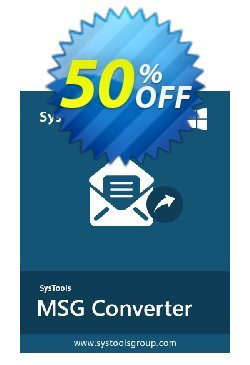 MSG to EML Converter - Enterprise License Coupon, discount SysTools coupon 36906. Promotion: