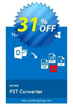SysTools Outlook Conversion Coupon, discount SysTools coupon 36906. Promotion: