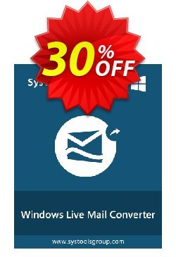 SysTools Windows Live Mail Converter Coupon discount SysTools Summer Sale -