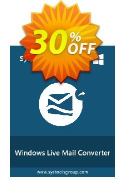 Windows Live Mail Converter - Enterprise License Coupon, discount SysTools coupon 36906. Promotion: