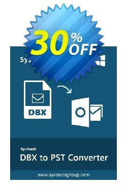 DBX Converter - Personal License Coupon, discount SysTools coupon 36906. Promotion: