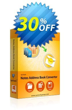 SysTools Notes Address Book Converter Coupon discount SysTools Summer Sale -