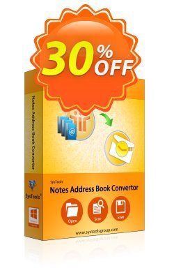 Notes Address Book Converter - Enterprise License Coupon, discount SysTools coupon 36906. Promotion:
