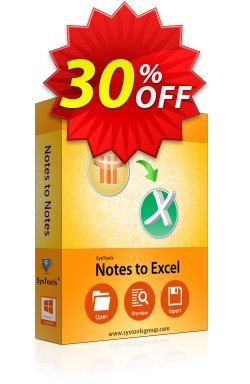 SysTools Notes to Excel - Enterprise  Coupon discount SysTools coupon 36906 -