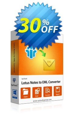 Lotus Notes to Outlook Express - Personal License Coupon, discount SysTools coupon 36906. Promotion:
