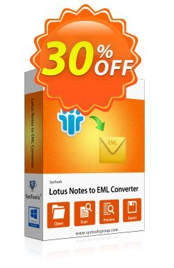 Lotus Notes to Outlook Express - Enterprise License Coupon, discount SysTools coupon 36906. Promotion:
