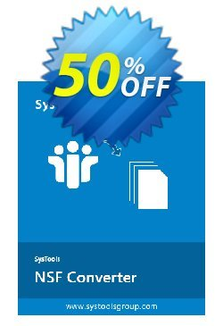 SysTools NSF Converter - 25 NSF files  Coupon discount SysTools coupon 36906 -