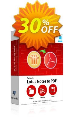 SysTools Lotus Notes to PDF Converter - Enterprise  Coupon discount SysTools coupon 36906 -