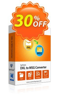 DXL to MSG Converter - Single User Coupon, discount SysTools coupon 36906. Promotion: