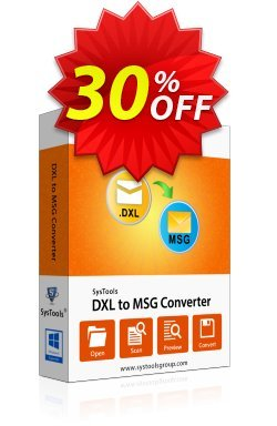 DXL to MSG Converter - Academic Coupon, discount SysTools coupon 36906. Promotion: