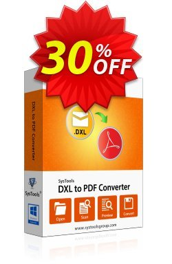 SysTools DXL to PDF Converter Coupon discount SysTools Summer Sale -