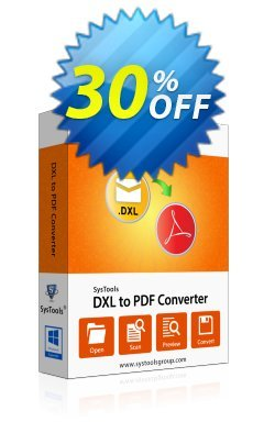 SysTools DXL to PDF Converter - Academic  Coupon discount SysTools coupon 36906. Promotion: