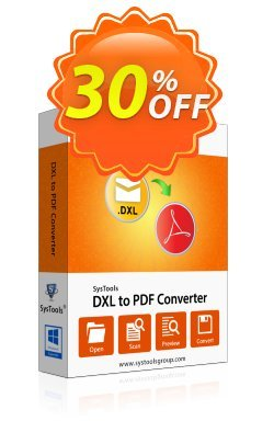 DXL to PDF Converter - Enterprise Coupon, discount SysTools coupon 36906. Promotion: