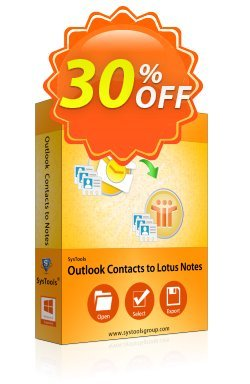 SysTools Outlook Contacts to Lotus Notes - Business  Coupon discount SysTools coupon 36906 -