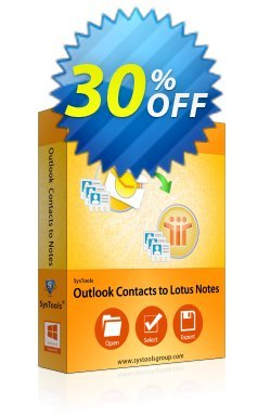 SysTools Outlook Contacts to Lotus Notes - Enterprise  Coupon discount SysTools coupon 36906 -