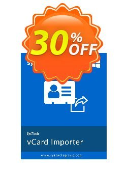SysTools vCard Importer - Enterprise  Coupon, discount SysTools coupon 36906. Promotion: